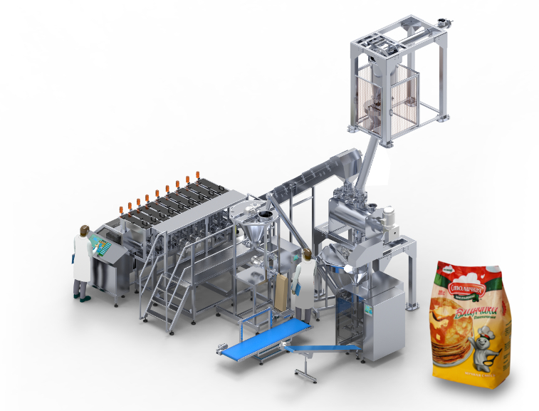 Line for preparation, mixing and packing of mixtures BLEND LINE