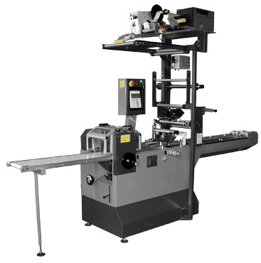 Horizontal flow-pack machines