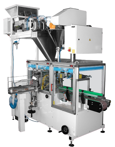 Horizontal packaging machines for packing into pre-made bags MH7 and PL1