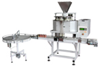 Filling machine with volumetric filler MD2 and rotary table OS2